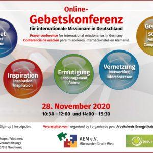 Online-Gebetskonferenz für internationale Missionare in Deutschland