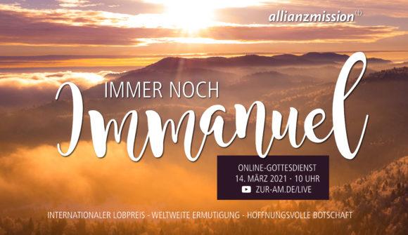Bundesweiter Online-Gottesdienst der Allianz-Mission am 14. März