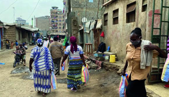 Speisung der 5000 im kenianischen Slum