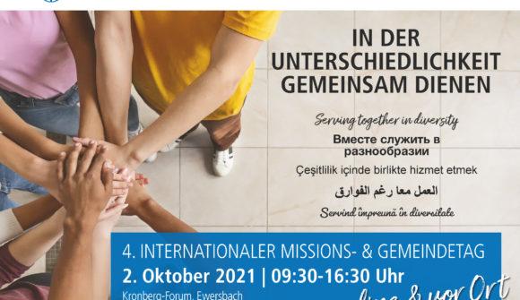 4. Internationaler Missions- und Gemeindetag am 2. OKtober